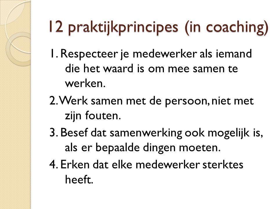 12 praktijkprincipes (in coaching)