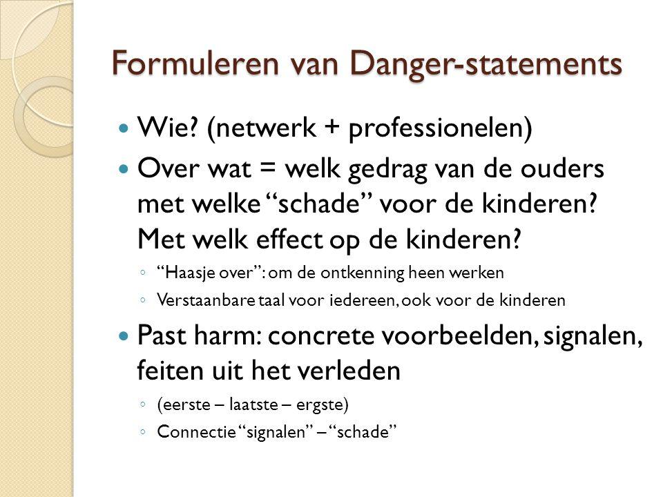 Formuleren van Danger-statements