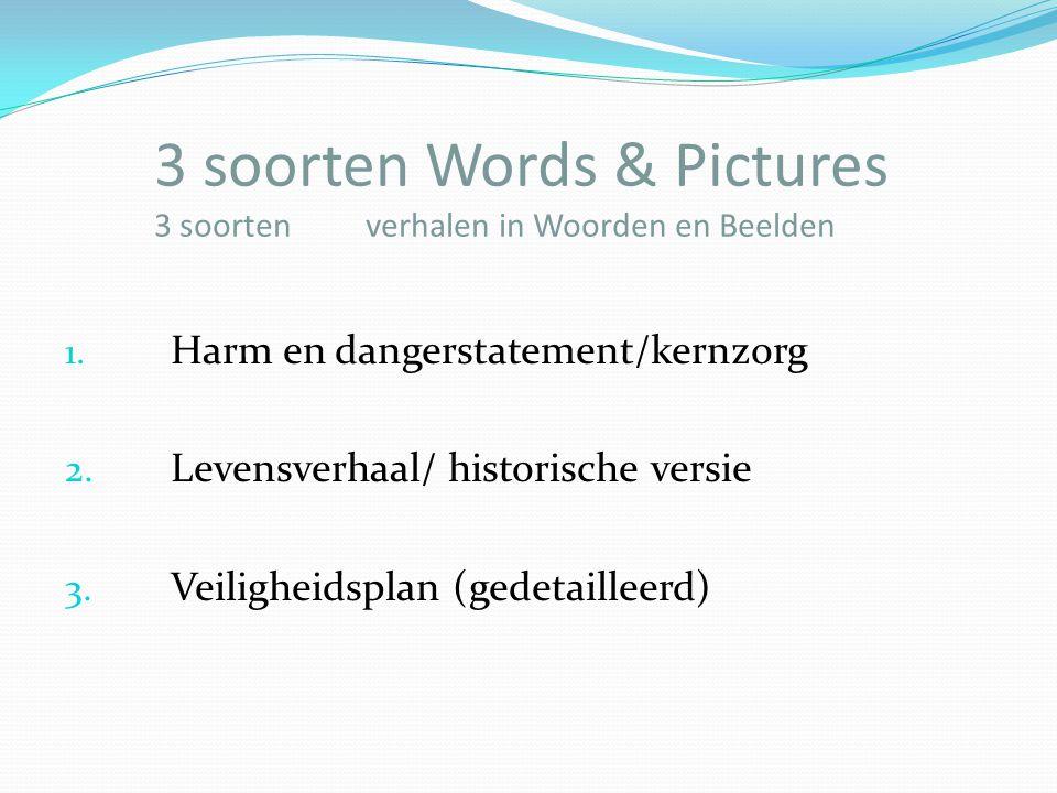 3 soorten Words & Pictures 3 soorten verhalen in Woorden en Beelden