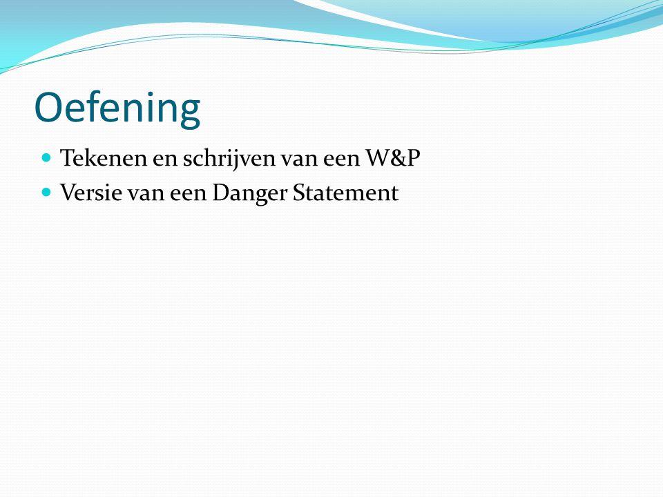 Oefening Tekenen en schrijven van een W&P