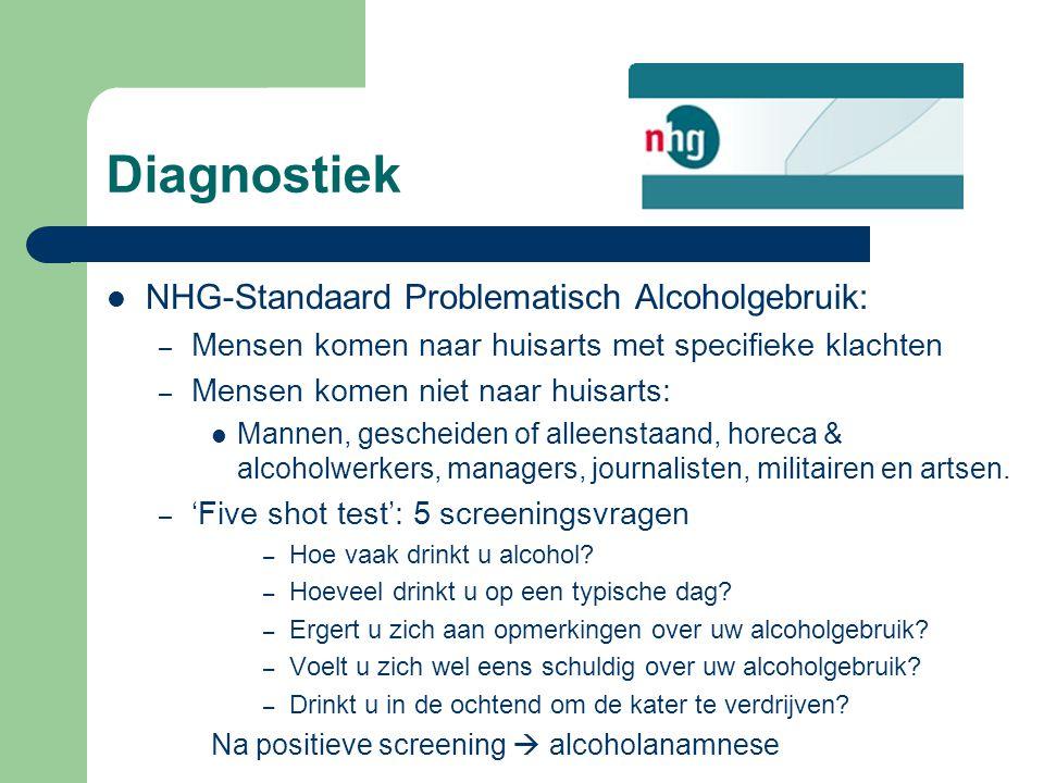 Diagnostiek NHG-Standaard Problematisch Alcoholgebruik: