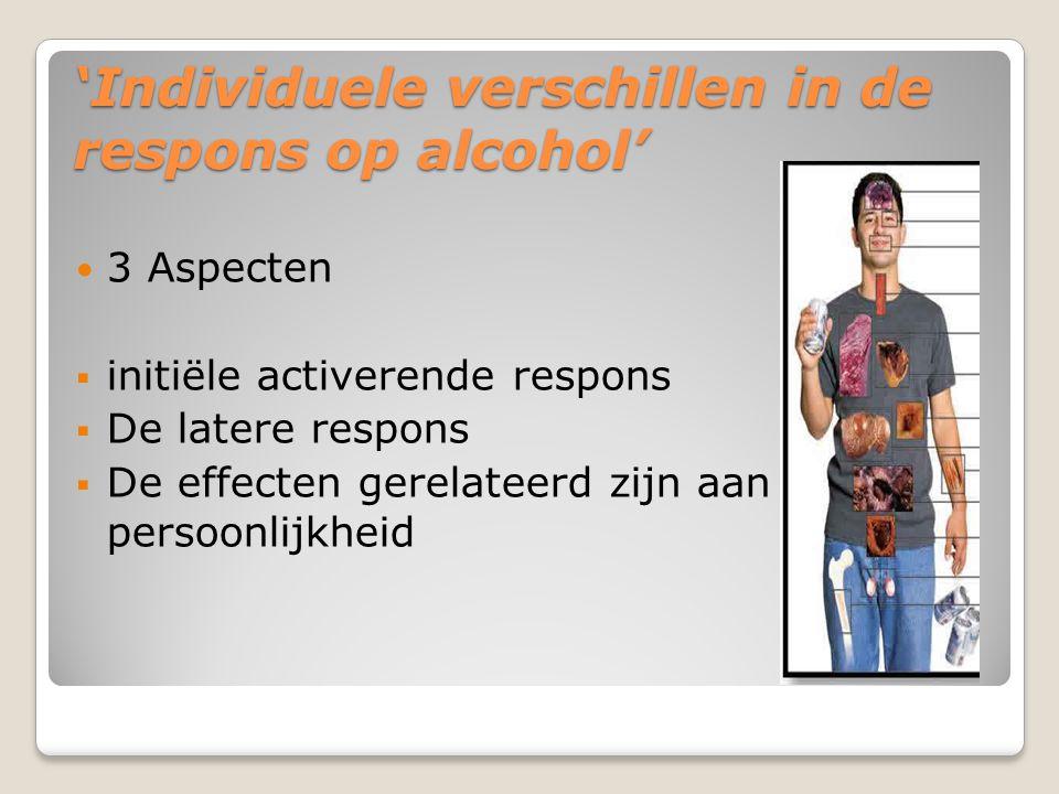 'Individuele verschillen in de respons op alcohol'