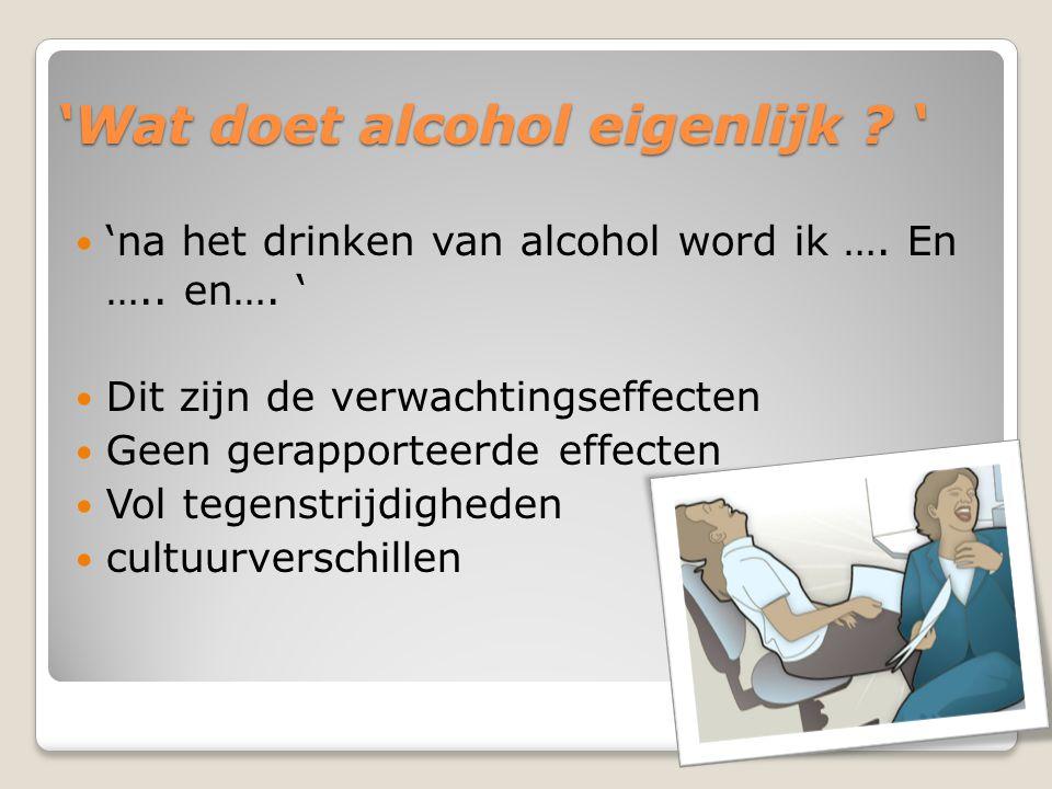 'Wat doet alcohol eigenlijk '