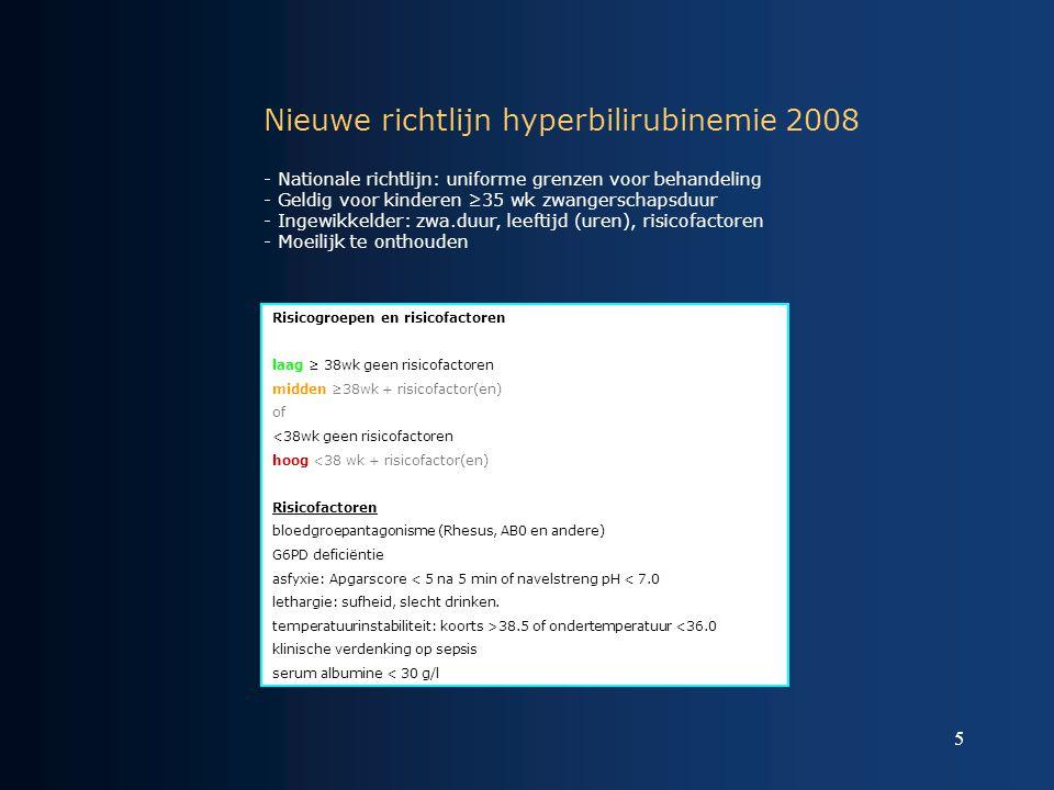 Nieuwe richtlijn hyperbilirubinemie 2008