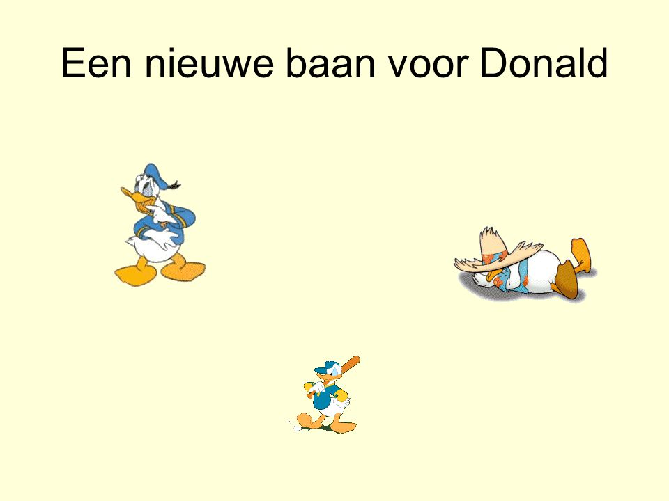 Een nieuwe baan voor Donald