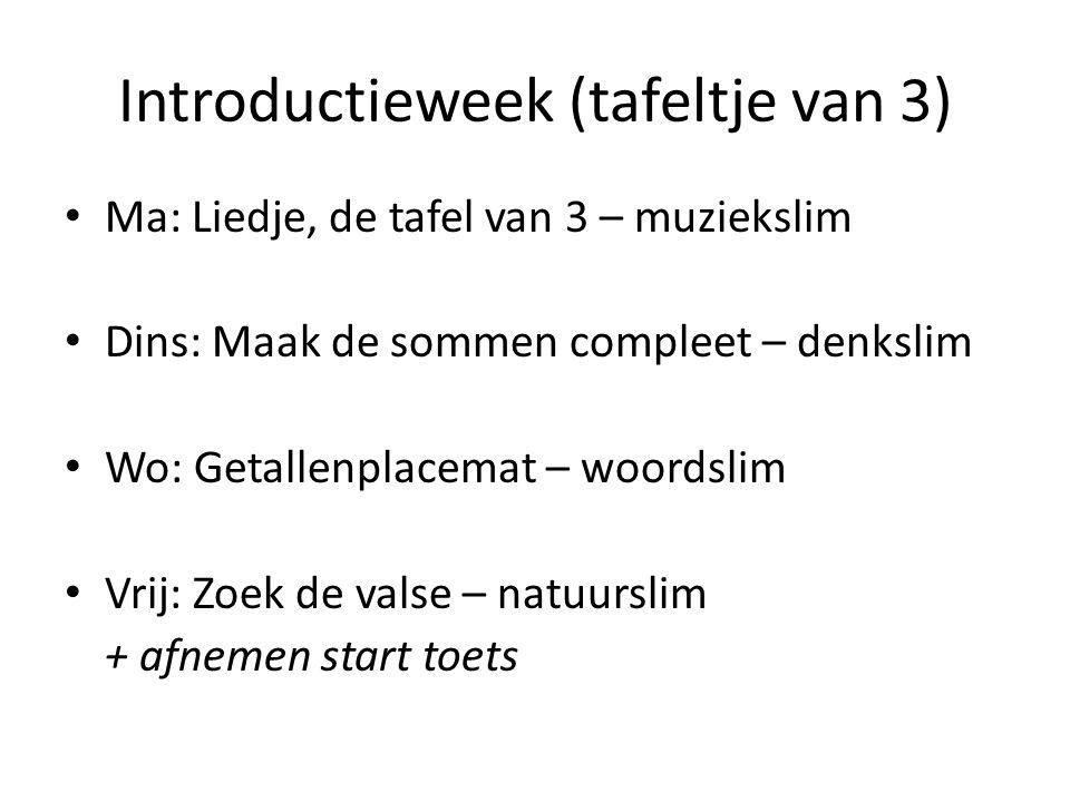 Introductieweek (tafeltje van 3)