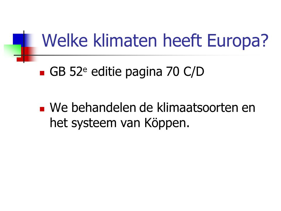 Welke klimaten heeft Europa