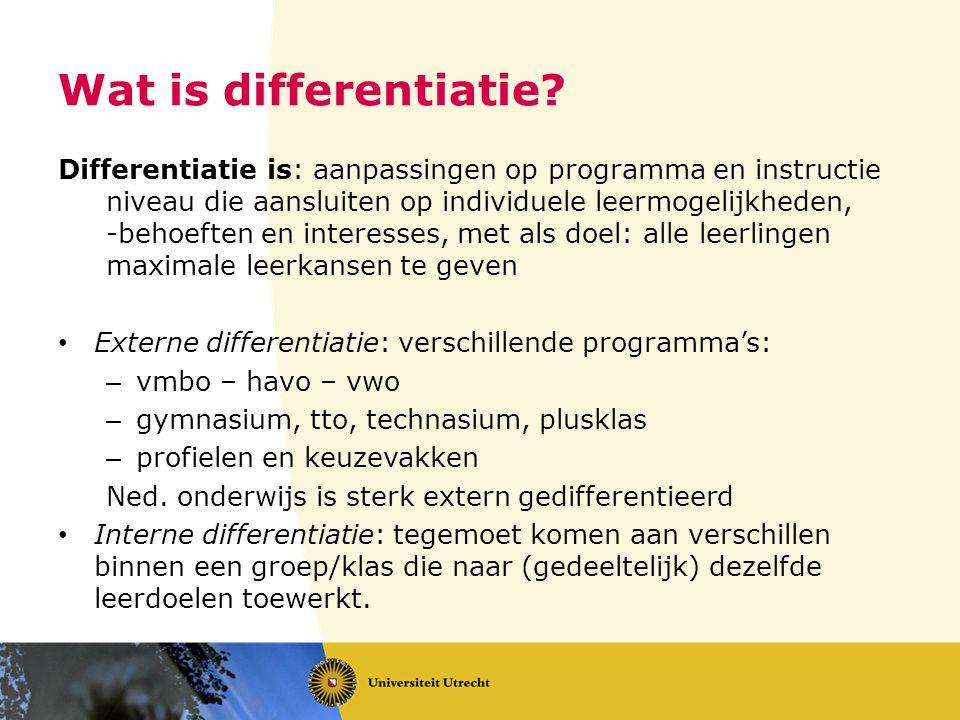 Wat is differentiatie