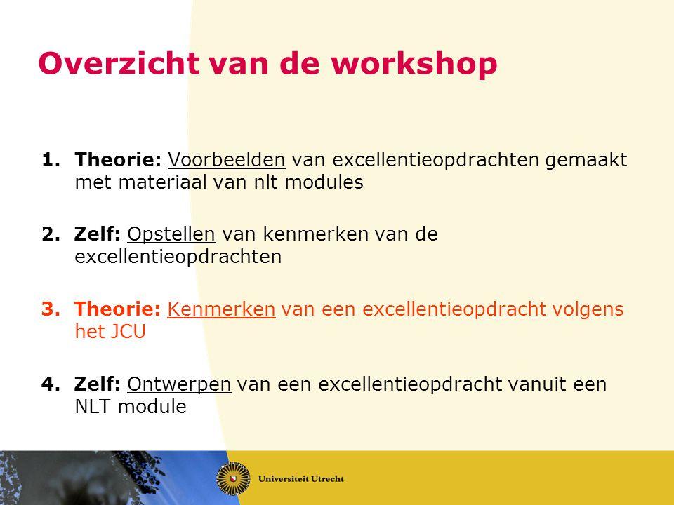 Overzicht van de workshop