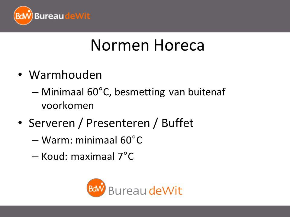 Normen Horeca Warmhouden Serveren / Presenteren / Buffet