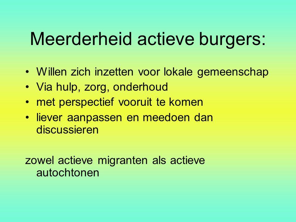 Meerderheid actieve burgers: