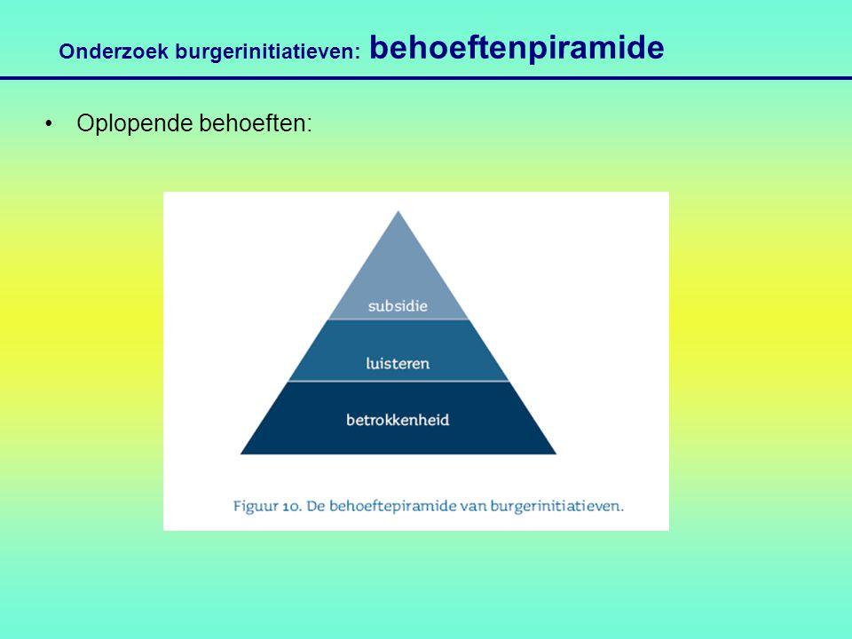Onderzoek burgerinitiatieven: behoeftenpiramide