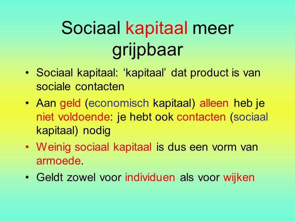 Sociaal kapitaal meer grijpbaar