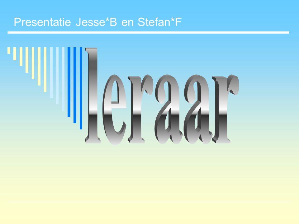 Presentatie Jesse*B en Stefan*F