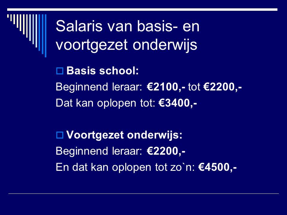 Salaris van basis- en voortgezet onderwijs