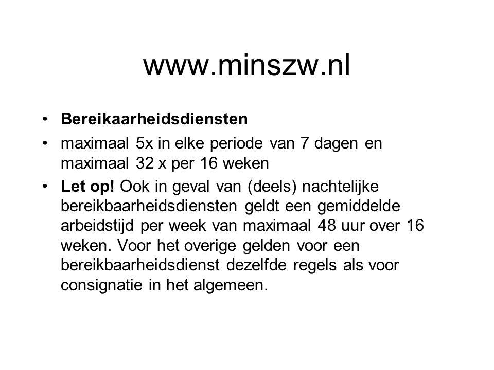 www.minszw.nl Bereikaarheidsdiensten