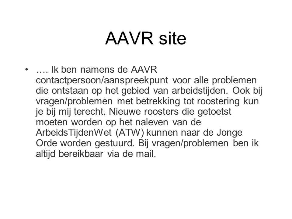 AAVR site