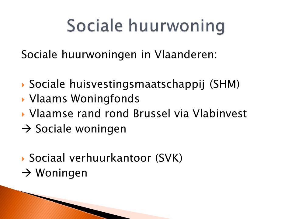 Sociale huurwoning Sociale huurwoningen in Vlaanderen: