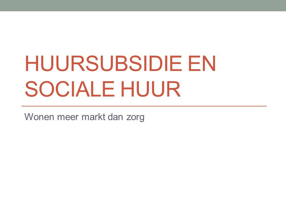 Huursubsidie en sociale huur
