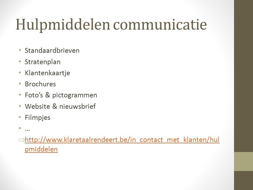 Hulpmiddelen communicatie