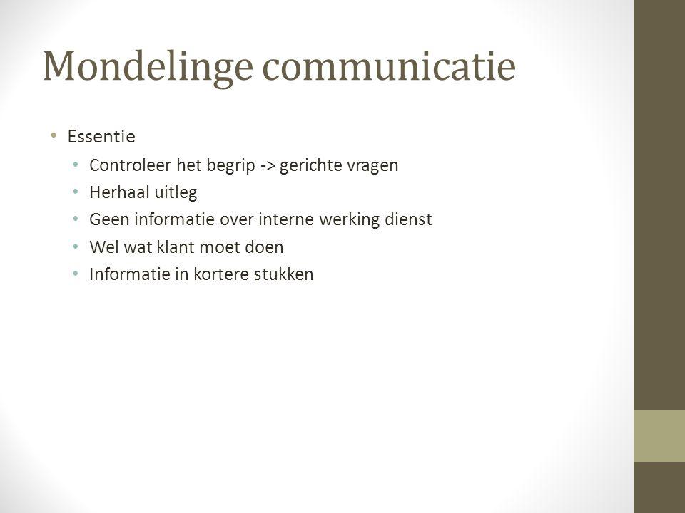 Mondelinge communicatie
