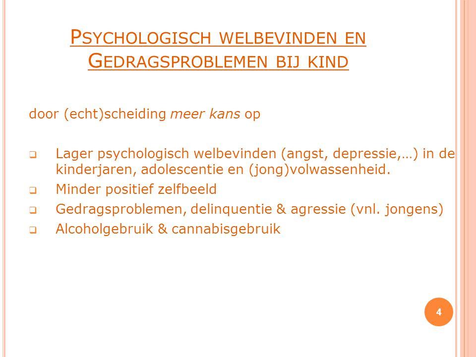 Psychologisch welbevinden en Gedragsproblemen bij kind