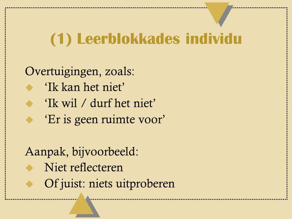 (1) Leerblokkades individu