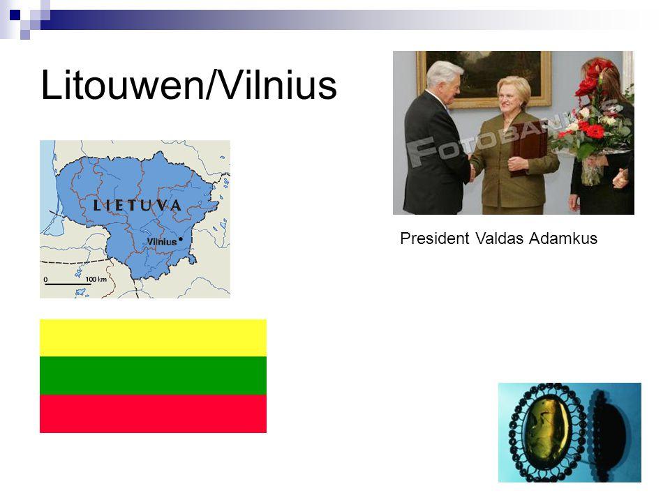 Litouwen/Vilnius President Valdas Adamkus