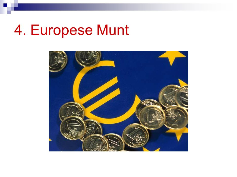 4. Europese Munt