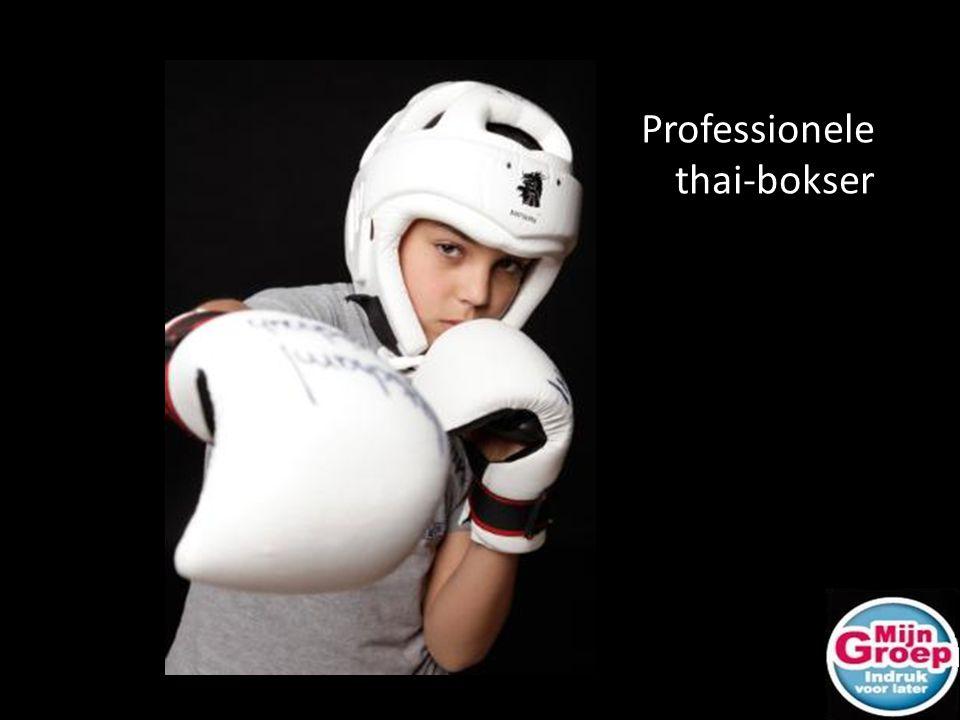 Professionele thai-bokser