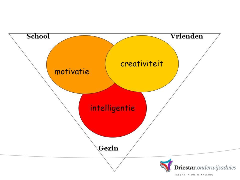 School Vrienden Gezin creativiteit motivatie intelligentie