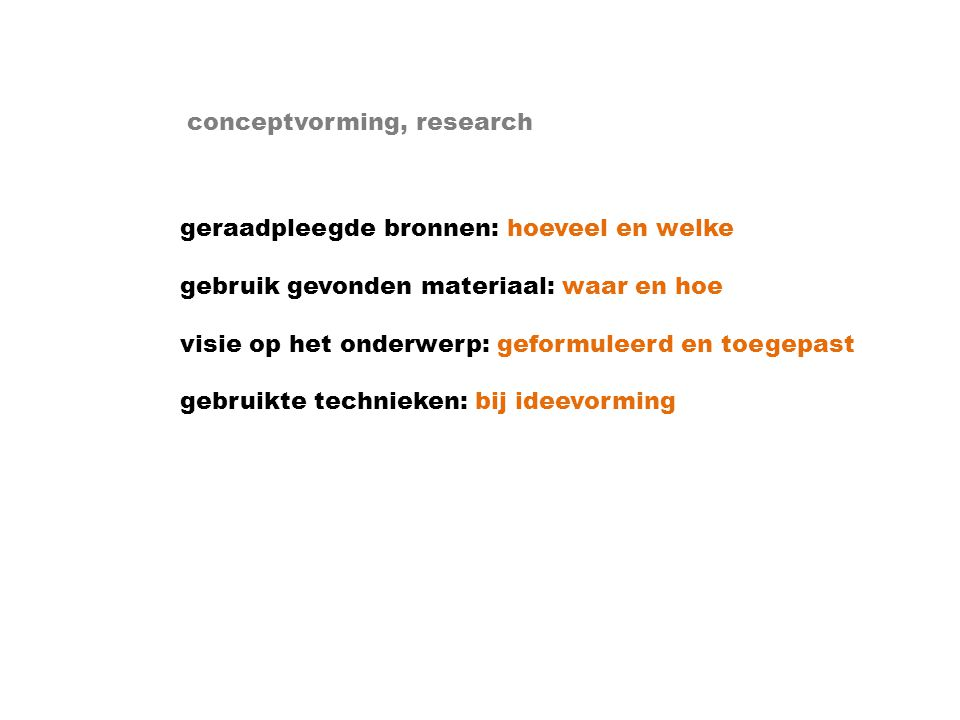 conceptvorming, research