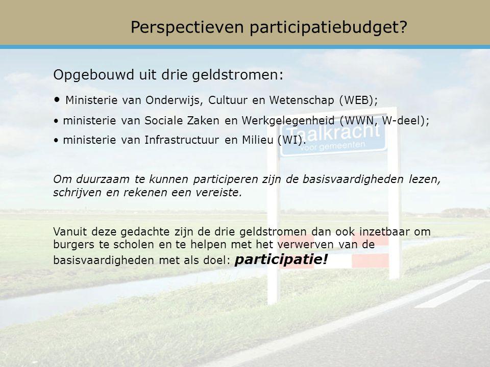 Perspectieven participatiebudget