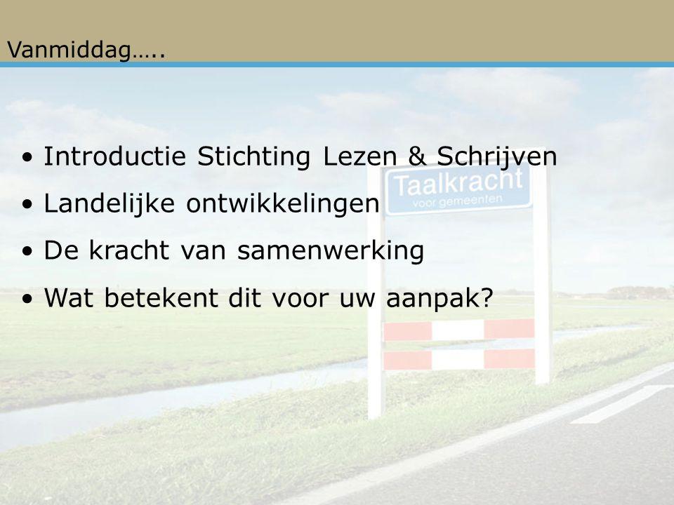 Introductie Stichting Lezen & Schrijven Landelijke ontwikkelingen
