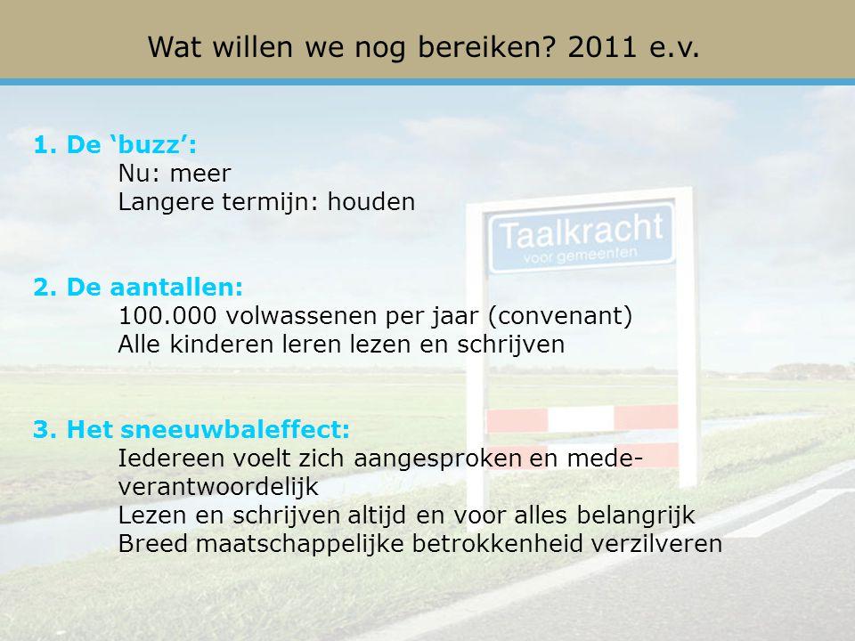 Wat willen we nog bereiken 2011 e.v.