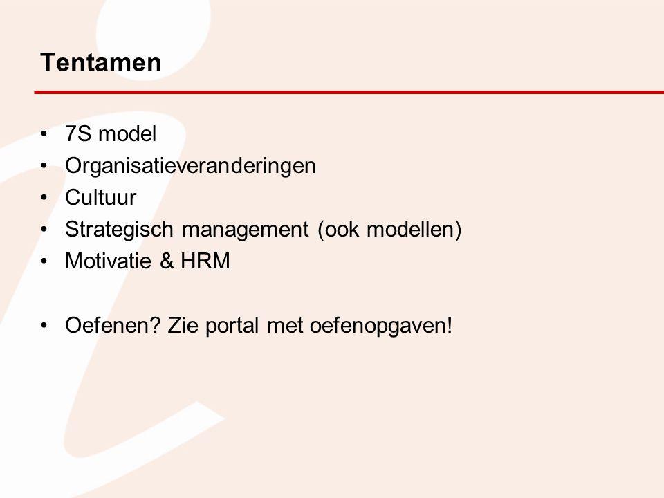 Tentamen 7S model Organisatieveranderingen Cultuur