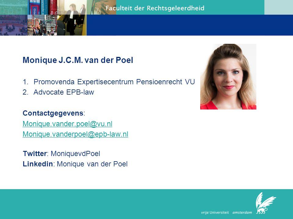 Monique J.C.M. van der Poel