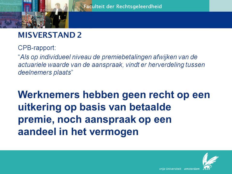 MISVERSTAND 2 CPB-rapport: