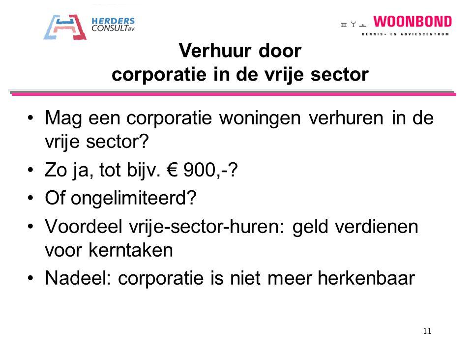 corporatie in de vrije sector