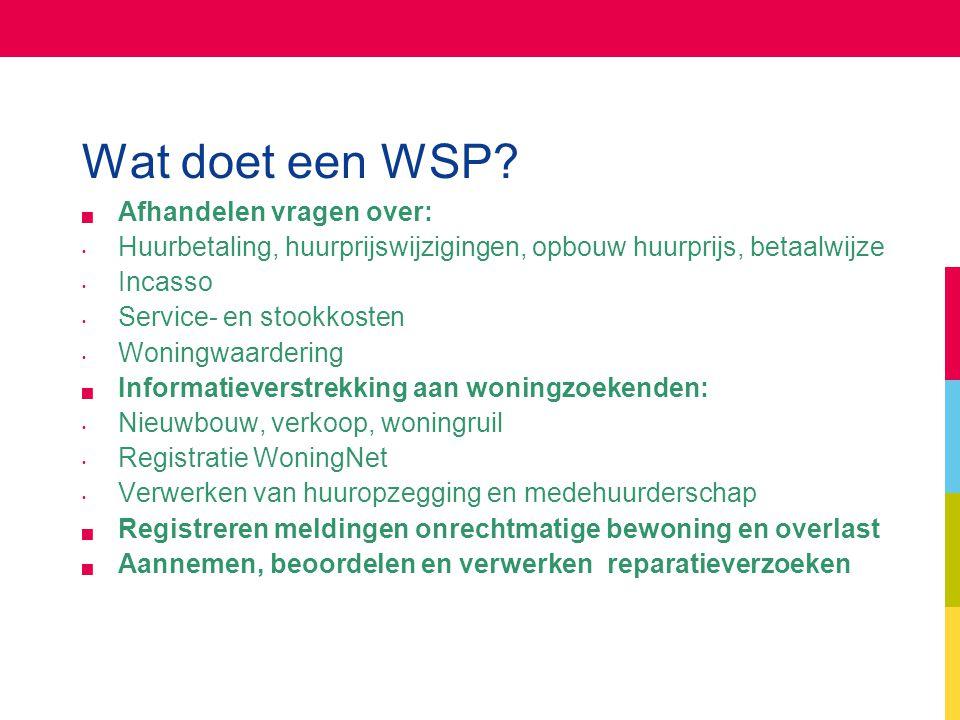Wat doet een WSP Afhandelen vragen over: