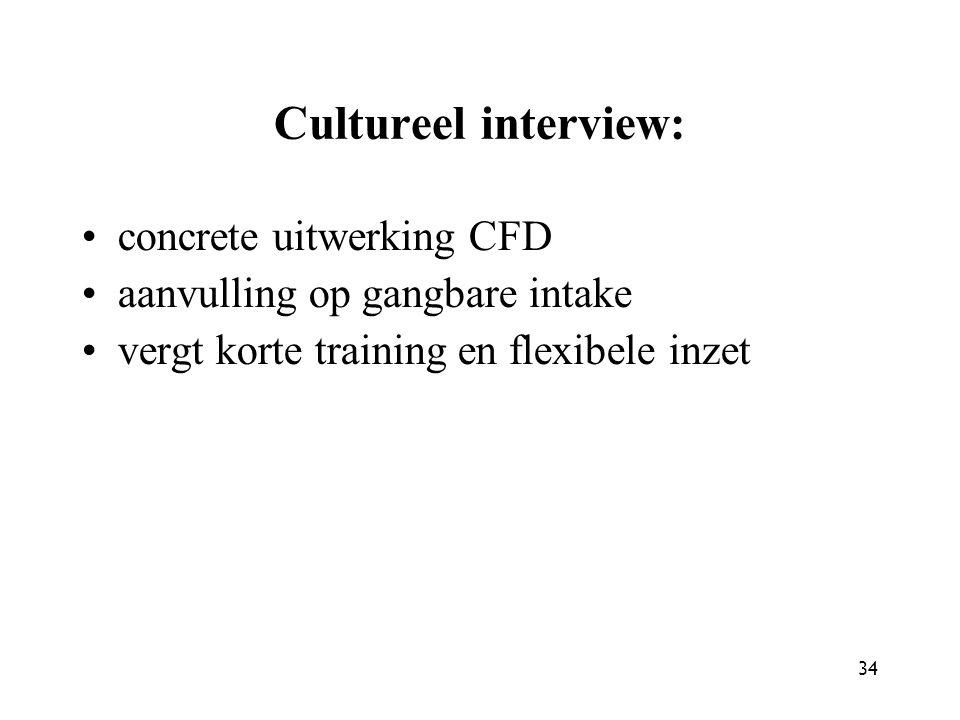 Cultureel interview: concrete uitwerking CFD