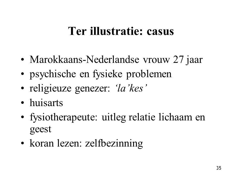 Ter illustratie: casus