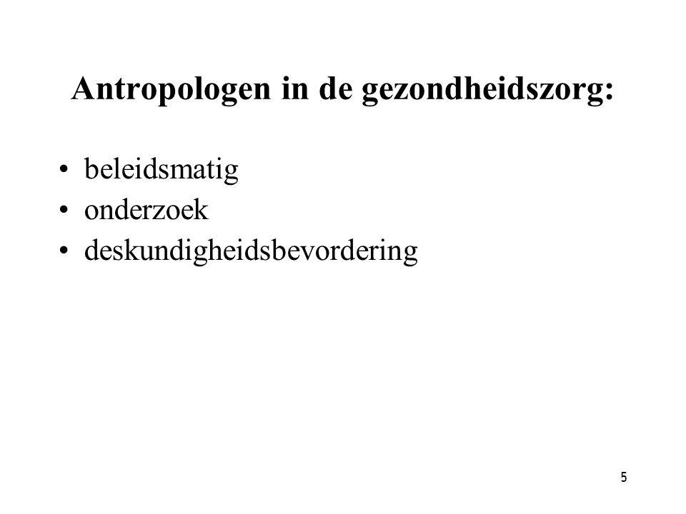Antropologen in de gezondheidszorg: