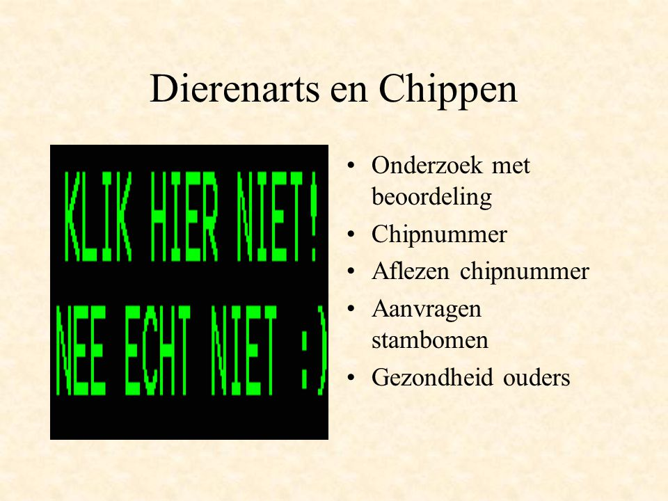 Dierenarts en Chippen Onderzoek met beoordeling Chipnummer