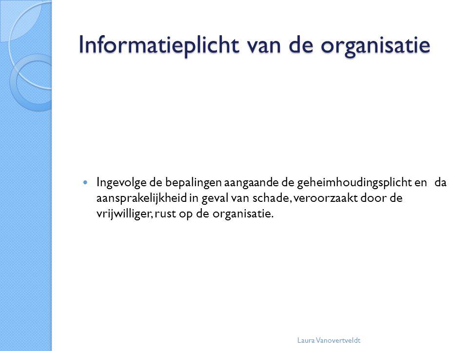 Informatieplicht van de organisatie