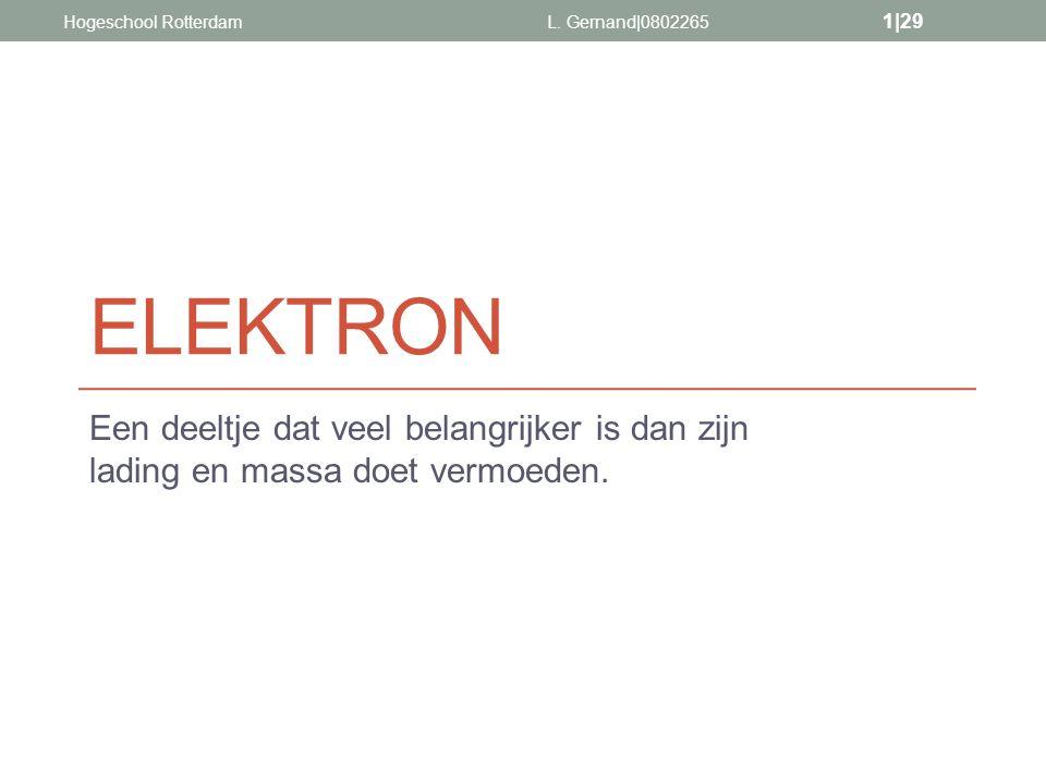 Hogeschool Rotterdam L. Gernand|0802265. ELEKTRON.