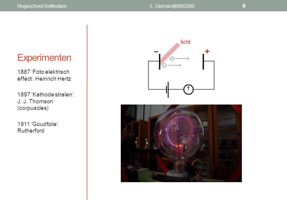 Experimenten 1887 'Foto elektrisch effect'. Heinrich Hertz