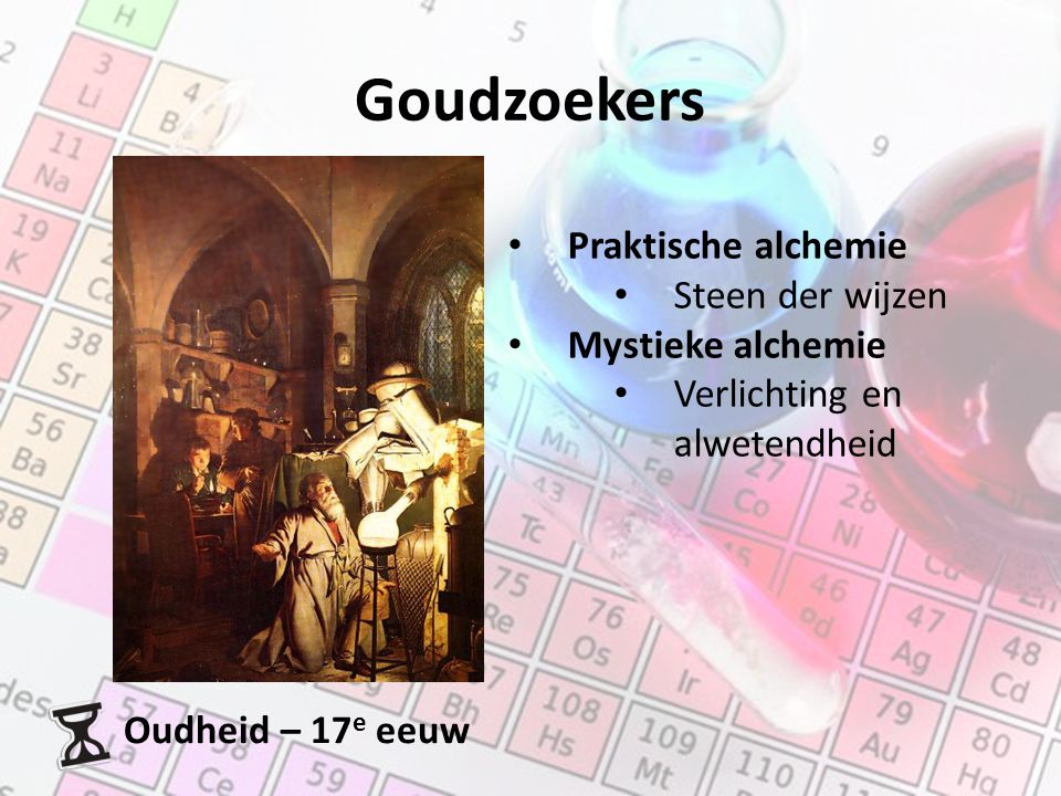 Goudzoekers Praktische alchemie Steen der wijzen Mystieke alchemie