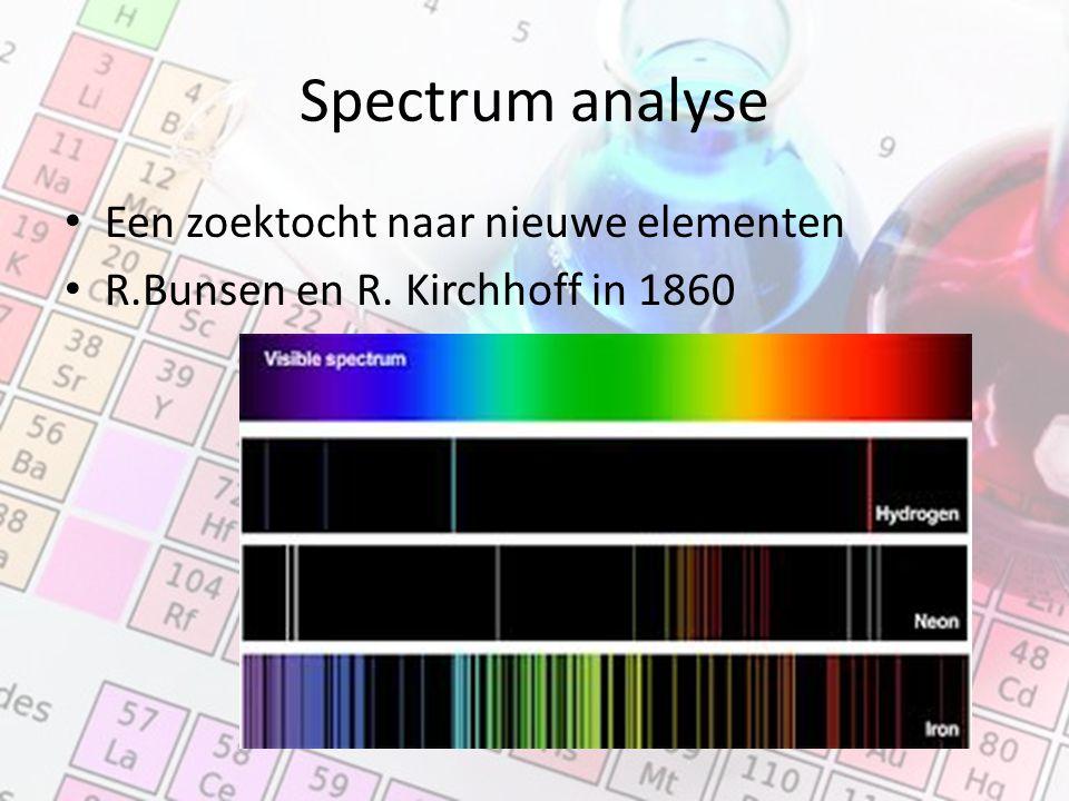 Spectrum analyse Een zoektocht naar nieuwe elementen