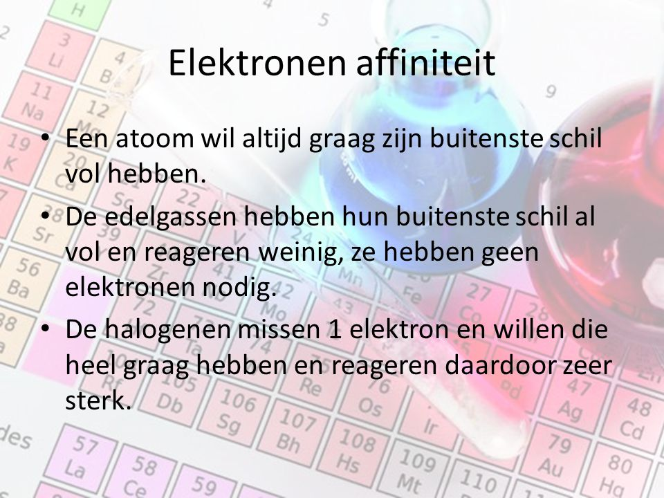 Elektronen affiniteit